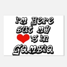 My hearts in Gambia Postcards (Package of 8)