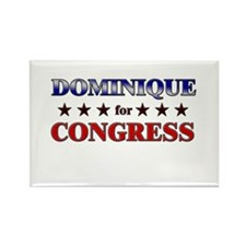 DOMINIQUE for congress Rectangle Magnet