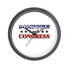 DOMINIQUE for congress Wall Clock