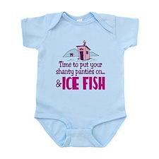 Shanty Panties Ice Fishing Infant Bodysuit