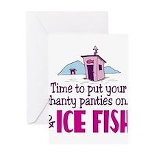 Shanty Panties Ice Fishing Greeting Card