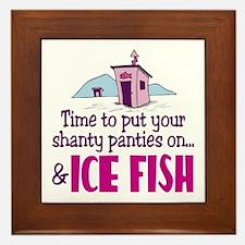 Shanty Panties Ice Fishing Framed Tile