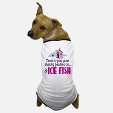 Shanty Panties Ice Fishing Dog T-Shirt