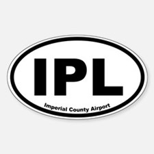 Imperial County Airport Oval Decal