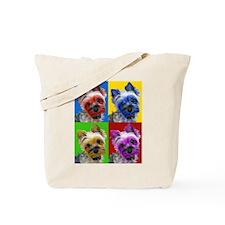 Pop Art Yorkie Tote Bag