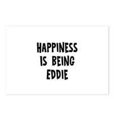 Happiness is being Eddie Postcards (Package of 8)