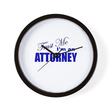 Trust Me I'm an Attorney Wall Clock