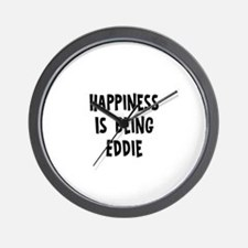Happiness is being Eddie Wall Clock