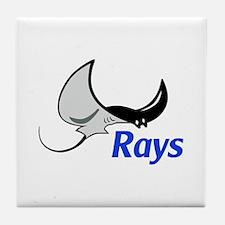 Rays Mascot Tile Coaster