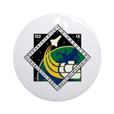 STS 122 Atlantis Ornament (Round)