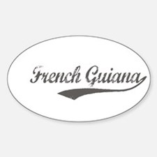 French Guiana flanger Oval Decal