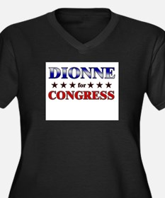 DIONNE for congress Women's Plus Size V-Neck Dark