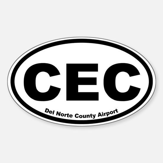 Del Norte County Airport Oval Decal