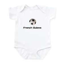 French Guiana Soccer Infant Bodysuit