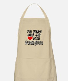 My hearts in French Guiana BBQ Apron