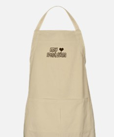 my heart French Guiana BBQ Apron