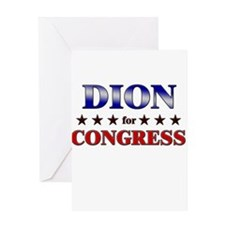DION for congress Greeting Card