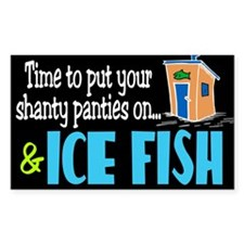Shanty Panties Ice Fish Rectangle Decal