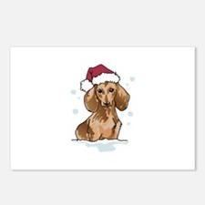 Dachshund In Snow Postcards (Package of 8)