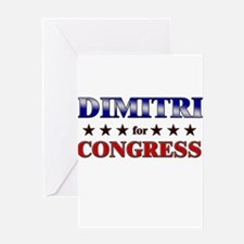DIMITRI for congress Greeting Card