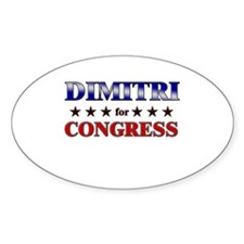 DIMITRI for congress Oval Decal