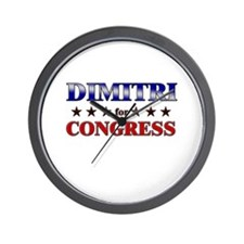 DIMITRI for congress Wall Clock