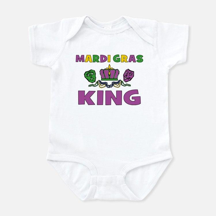 Mardi Gras King Infant Bodysuit