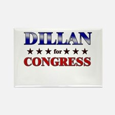 DILLAN for congress Rectangle Magnet