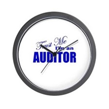 Trust Me I'm an Auditor Wall Clock