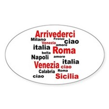 Italian sayings Oval Decal