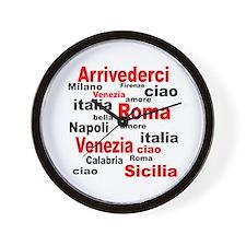 Italian sayings Wall Clock