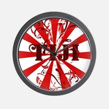 Fiji red vintage Wall Clock