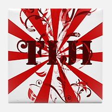 Fiji red vintage Tile Coaster
