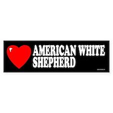 AMERICAN WHITE SHEPHERD Bumper Car Sticker