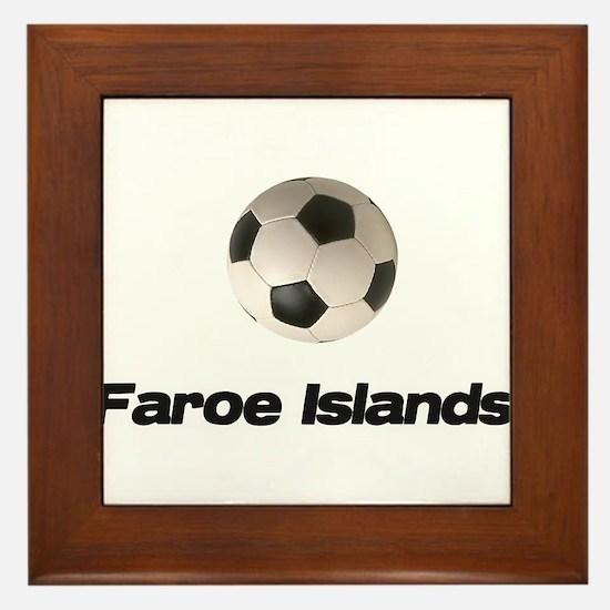 Faroe Islands Soccer Framed Tile