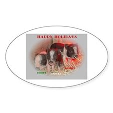 Potbelly Pig Oval Decal