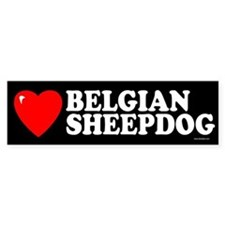 BELGIAN SHEEPDOG Bumper Car Sticker