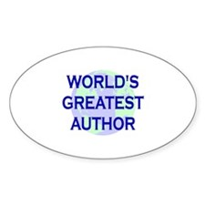 World's Greatest Author Oval Decal