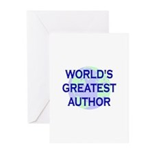 World's Greatest Author Greeting Cards (Pk of 10)