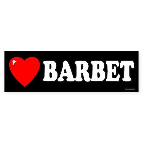 BARBET Bumper Sticker