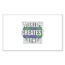 World's Greatest Author Rectangle Decal