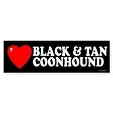 BLACK AND TAN COONHOUND Bumper Bumper Sticker