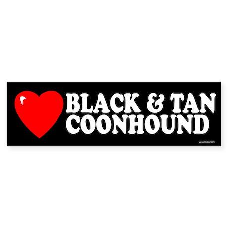 BLACK AND TAN COONHOUND Bumper Sticker