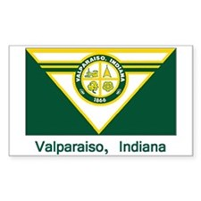 Valparaiso IN Flag Rectangle Decal