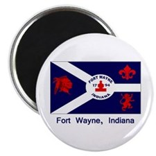 "Fort Wayne IN Flag 2.25"" Magnet (10 pack)"