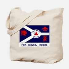 Fort Wayne IN Flag Tote Bag
