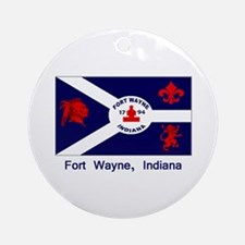Fort Wayne IN Flag Ornament (Round)
