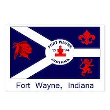 Fort Wayne IN Flag Postcards (Package of 8)