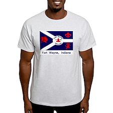 Fort Wayne IN Flag T-Shirt