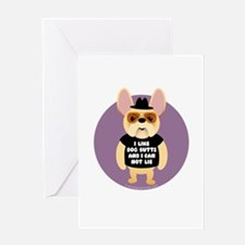 DOG BUTTS Fr. Bulldog Greeting Card
